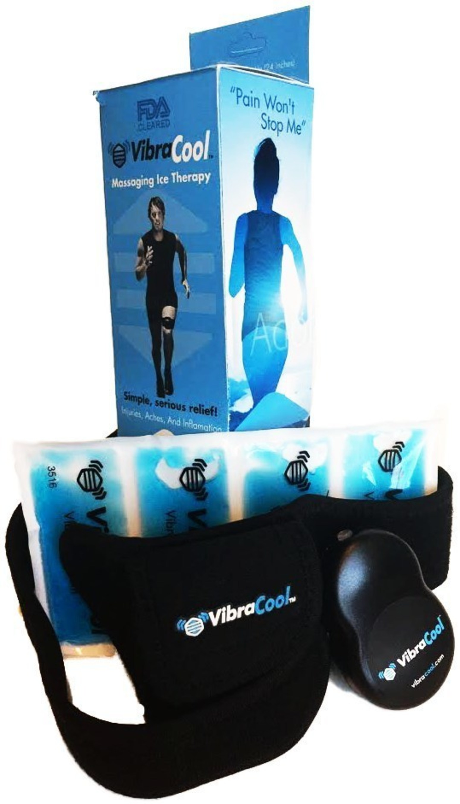 VibraCool(R)'s Cool-Pulse(TM) technology combines high frequency massage and ice in a product optimized for athletes and chronic joint pain sufferers.