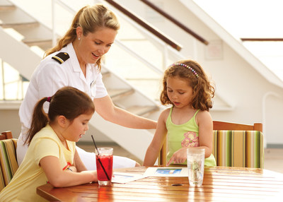 Young travelers and Kids Officer on Crystal Symphony