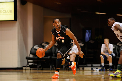 The-BALL, Austin Freeman (Georgetown University, Class of 2011) will be representing The-BALL's Washington, DC team during the 2013 summer showcase.  (PRNewsFoto/The Basketball Alumni Legends League)