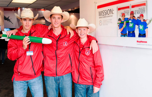 U.S. Team Rockets to Gold: The U.S. student rocketry team, sponsored by Raytheon Company, captured first place ...