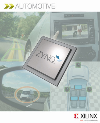Xilinx's Zynq(TM)-7000 family of devices, the industry's first SoC to incorporate an ARM(R) dual-core Cortex(TM)-A9 MPCore(TM) processing system with tightly coupled software, hardware and I/O on a single die, allows automotive designers to have a single advanced driver assistance systems platform from which they can scale different features and capabilities across models and vehicle classes.  (PRNewsFoto/Xilinx, Inc.)