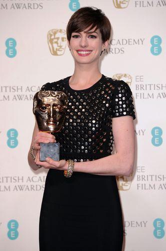 Anne Hathaway at the BAFTA Awards 2013 (PRNewsFoto/RWEL)