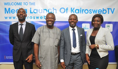 From Left: Mr. Ejiro Eghagha, Managing Partner Mercury West Africa, Mr Onoriode Akpe, Chief Executive Officer of Red Sappire Limited, Mr. Celestine Achi, the CEO of Cihan Group and the founder of KairosWebTV and Ms. Ruth Opakunle, Head Marketing of Cihan Group (PRNewsFoto/Cihan Group)