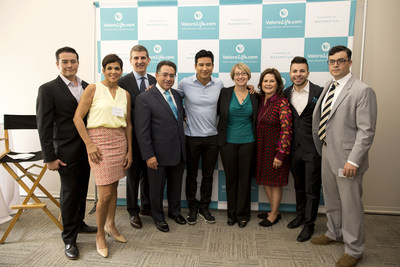 On June 18, celebrity entertainer Mario Lopez helped Michael Fanning, Executive Vice President, MassMutual and Eduardo Casas, Vice President, MassMutual & General Manager, ValoraLife, unveil ValoraLife.com, an innovative way for families to buy life insurance online. Left to right: Frank Silva, ValoraLife Director of Operations, Marilyn Alverio, ValoraLIfe Senior Marketing Manager, Michael Fanning, MassMutual Executive Vice President, Eduardo Casas,ValoraLife Vice President and General Manager, Mario Lopez, Tricia Walker, MassMutual Senior Vice President of Direct to Consumer Group, Patricia Diaz Dennis, MassMutual Board of Director, Eric Hernandez, ValoraLife Director of Marketing, and Gareth Ross, MassMutual Executive Vice President Consumer Experience.