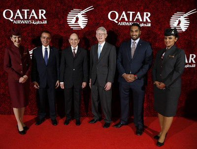 Qatar Airways Group Chief Executive, His Excellency Mr. Akbar Al Baker hosts the Boston launch gala