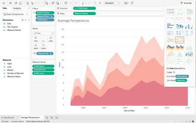 Tableau 10 has a refreshed design, including a new color palette and custom typeface