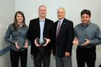Cooper Lighting was recently honored with 18 industry awards including three from the Next Generation Luminaires(TM) competition presented by Jim Brodrick, US Department of Energy Solid-State Lighting Program Manager (second from the right).  (PRNewsFoto/Cooper Lighting)