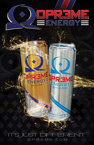 OPREME Energy, Genuine and Sugar Free, Smooth, No after Taste, No Crash.  (PRNewsFoto/OPREME Beverage Corp)