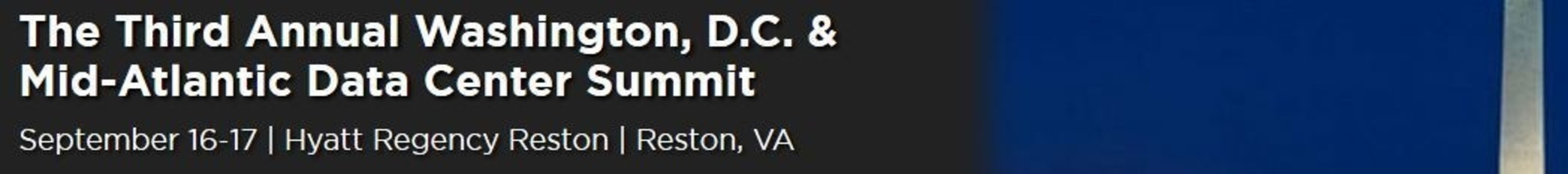 Continue the Data Center Conversation in Washington, D.C. Sept. 16-17 with The National Data Center Summit Series