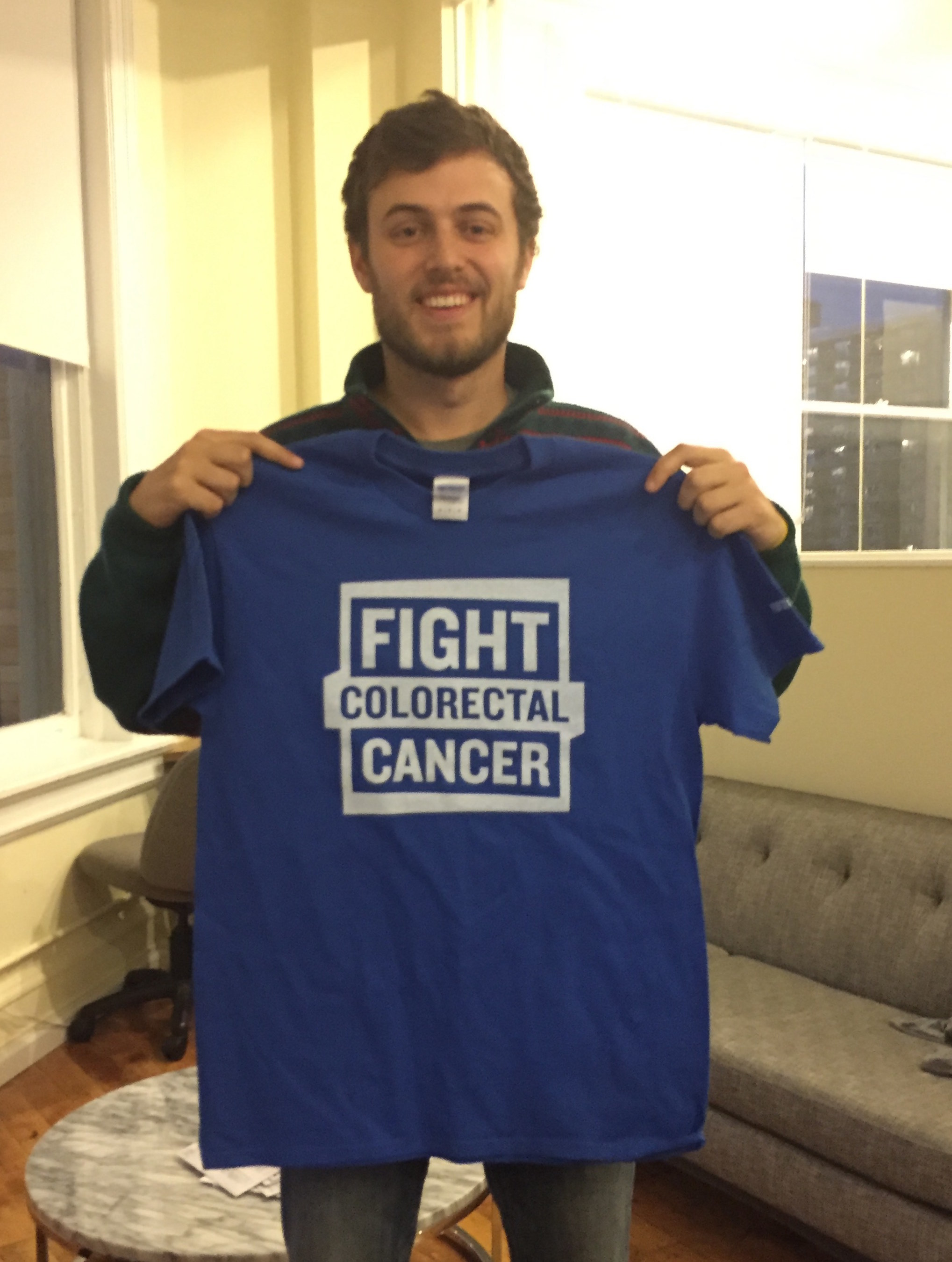 Mark Tanner participated in No-Shave November to support his family friend Andrea, a stage III colon cancer survivor.
