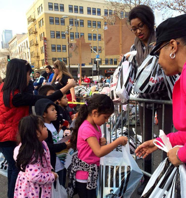 Santa & His Elves Bring 50,000 Toys To 10,000 Poor Children & Their Families On Skid Row At Fred Jordan Mission
