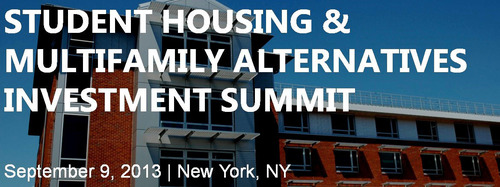 Student Housing, Senior Housing & Commercial Real Estate Multifamily Investors, Owners & Developers to Attend New York Summit on September 9.  (PRNewsFoto/CAPRATE Events, LLC)