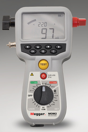 New Hand-held, High Current Micro-ohmmeter from Megger Delivers Up to 240 A of Current