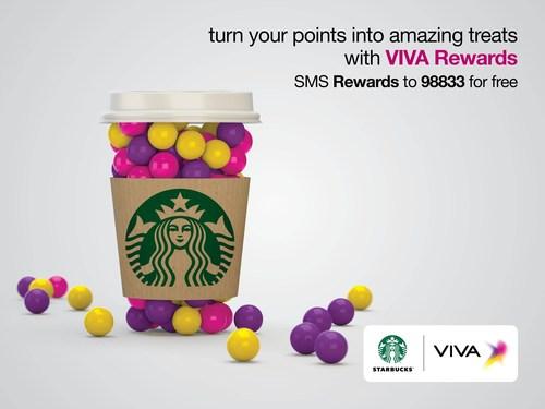 VIVA Rewards Starbucks English (PRNewsFoto/VIVA) (PRNewsFoto/VIVA)