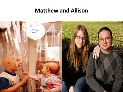 Matthew and Allison Farrow, then and now