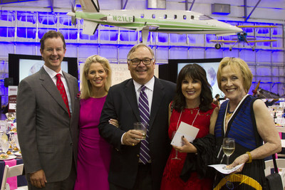 Mi Escuelita 2016 Cena de La Mariposa honoree Artie Starrs, President of Pizza Hut and his wife Elizabeth Starrs, dinner honorary chairs Greg and Carolyn Creed and Laree Hulshoff at the fundraising dinner.