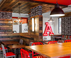 "The interior of Arby's new ""Inspire"" restaurant design."
