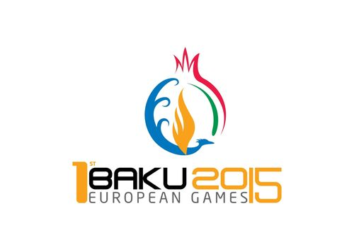 The Baku 2015 logo, unveiled today at the 42nd EOC General Assembly in Rome (PRNewsFoto/Baku 2015 European ...