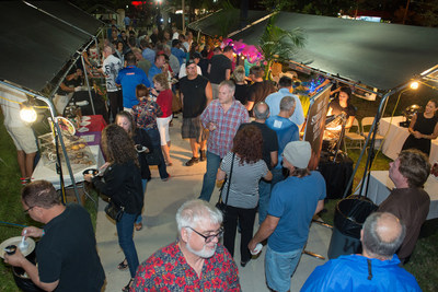 Patrons gather at last year's annual Taste of the Island (PRNewsFoto/The City of Wilton Manors)