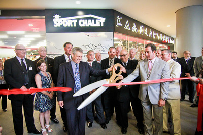"SPORT CHALET CUTS RIBBON TO UNVEIL ""STORE OF THE FUTURE,"" CONTINUING TO PUSH BRAND TO THE LIMIT New FIGat7th store officially opens its doors to Downtown L.A. residents.  (PRNewsFoto/Sport Chalet, Inc.)"