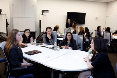 Girls Inc. of Long Island visit the Canon U.S.A. Inc. headquarters in Melville, New York.