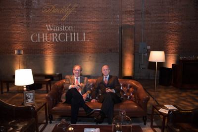 Davidoff Winston Churchill Event New York, CEO Hans-Kristian Hoejsgaard and Randolph Churchill, Photo credit: Sandra Hamburg