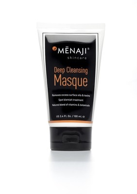 MENAJI Advanced Men's Skincare Deep Cleansing Masque, made especially to address the 20% more oil production on a man's face, increased popularity with overall mask market demand increase, said MENAJI executives.