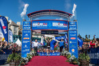 Today at the Subaru IRONMAN 70.3 World Championship in Mont-Tremblant,Quebec, Canada, Spain's Javier Gomez captures a win and his first IRONMAN World Championship title with a time of 3 hours, 41 minutes and 30 seconds. Photo credit: Nils Nilsen/IRONMAN (PRNewsFoto/IRONMAN)