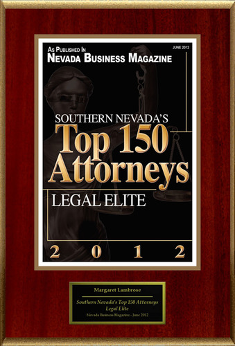 "Margaret W. Lambrose Selected For ""Southern Nevada's Top 150 Attorneys.""  (PRNewsFoto/American Registry)"