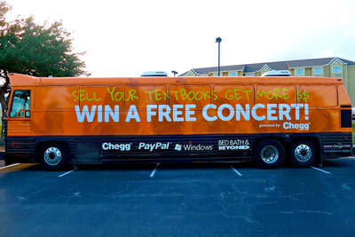 Textbook buyback tour bus with Bed Bath & Beyond, Microsoft and PayPal