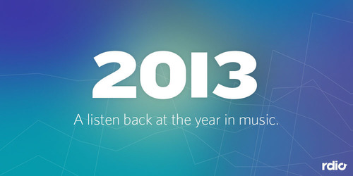 Rdio Unveils 2013 Year-End Charts With Macklemore & Ryan Lewis Scoring Top Global Album And Track Streams.  ...