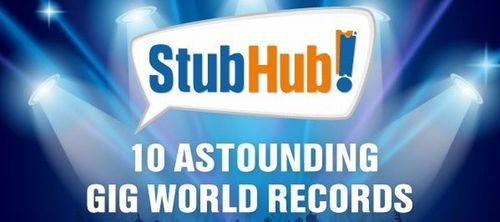 StubHub UK Reveals Astounding Gig World Records in New Infographic (PRNewsFoto/StubHub)