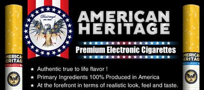 American Heritage(TM) Premium Electronic Cigarettes.  (PRNewsFoto/American Heritage International Inc.)