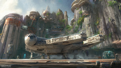 Walt Disney Company Chairman and CEO Bob Iger announced at D23 EXPO 2015 that Star Wars-themed lands will be coming to Disneyland park in Anaheim, Calif., and Disney's Hollywood Studios in Orlando, Fla., creating Disney's largest single-themed land expansions ever at 14-acres each. These authentic lands will have two signature attractions, including the ability to take the controls of one of the most recognizable ships in the galaxy, the Millennium Falcon, on a customized secret mission, and an epic Star Wars adventure that puts guests in the middle of a climactic battle. (Disney Parks)