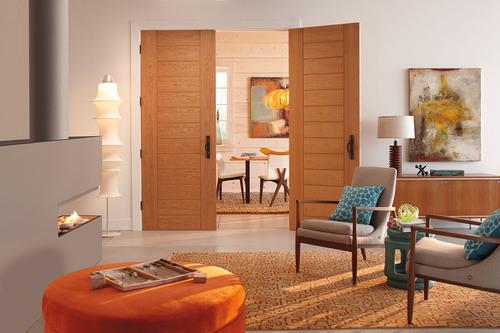 TruStile Doors TM13000 in Cherry wood with Kerf Cut reveal.  (PRNewsFoto/TruStile Doors)