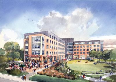 Rendering of EdR's new on-campus housing development at Shepherd University