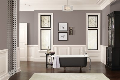 Bathroom in Poised Taupe (SW 6039), Sherwin-Williams 2017 Color of the Year