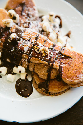 In honor of National S'mores Day, Bernzomatic partnered with open-fire cooking expert Chef Cory Morris to create one-of-a-kind gourmet recipes. To make S'mores and Bacon Pancakes simply pour pancake batter over bacon and top with chocolate, graham crackers and marshmallows that are toasted using a torch.