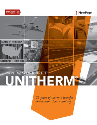 NewPage Introduces First Brief In New PAPER@WORK Series: The Story Of UniTherm(R) Thermal Transfer Label Innovation. (PRNewsFoto/NewPage Corporation)