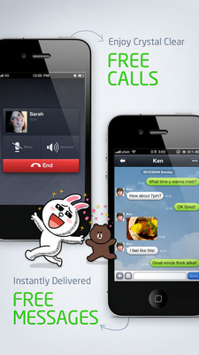 Enjoy free calls and messages with LINE!