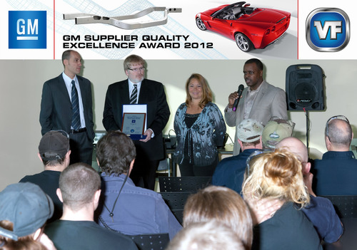 At a ceremony in Strathroy, Ontario, Canada, Vari-Form received the General Motors Supplier Quality Excellence ...