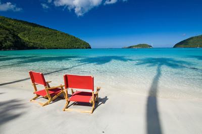 Beach at Maho Bay, U.S. Virgin Islands. (PRNewsFoto/The Trust For Public Land, Steve Simonsen Photograph) (PRNewsFoto/THE TRUST FOR PUBLIC LAND)