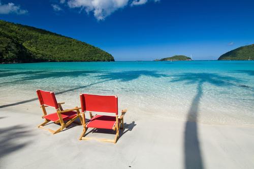 Beach at Maho Bay, U.S. Virgin Islands.  (PRNewsFoto/The Trust For Public Land, Steve Simonsen Photograph)