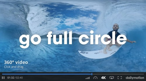 Dailymotion Launches Its New 360-degree Video Player (PRNewsFoto/Dailymotion)