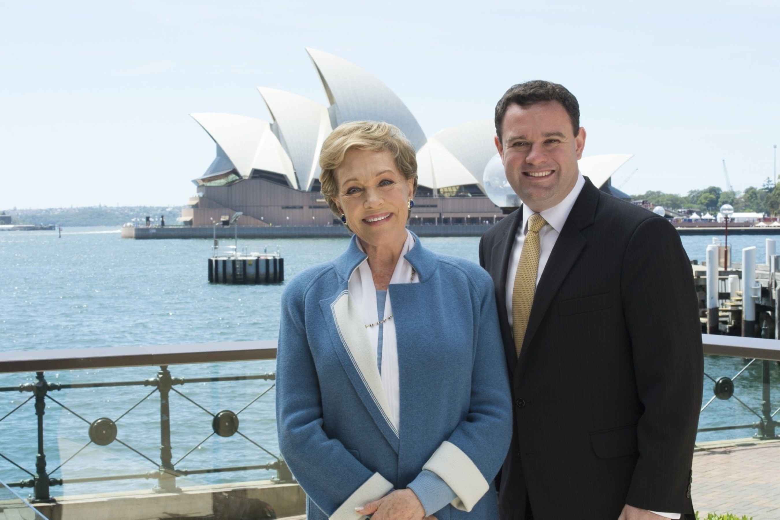 NSW Minister for Trade, Tourism and Major Events, Stuart Ayres welcomes Dame Julie Andrews to Sydney, Image: ...