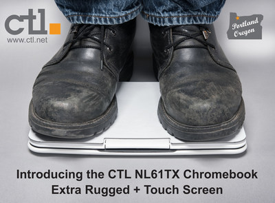 The CTL NL61TX touchscreen Chromebook for education isn't just rugged, it's eXtra rugged.