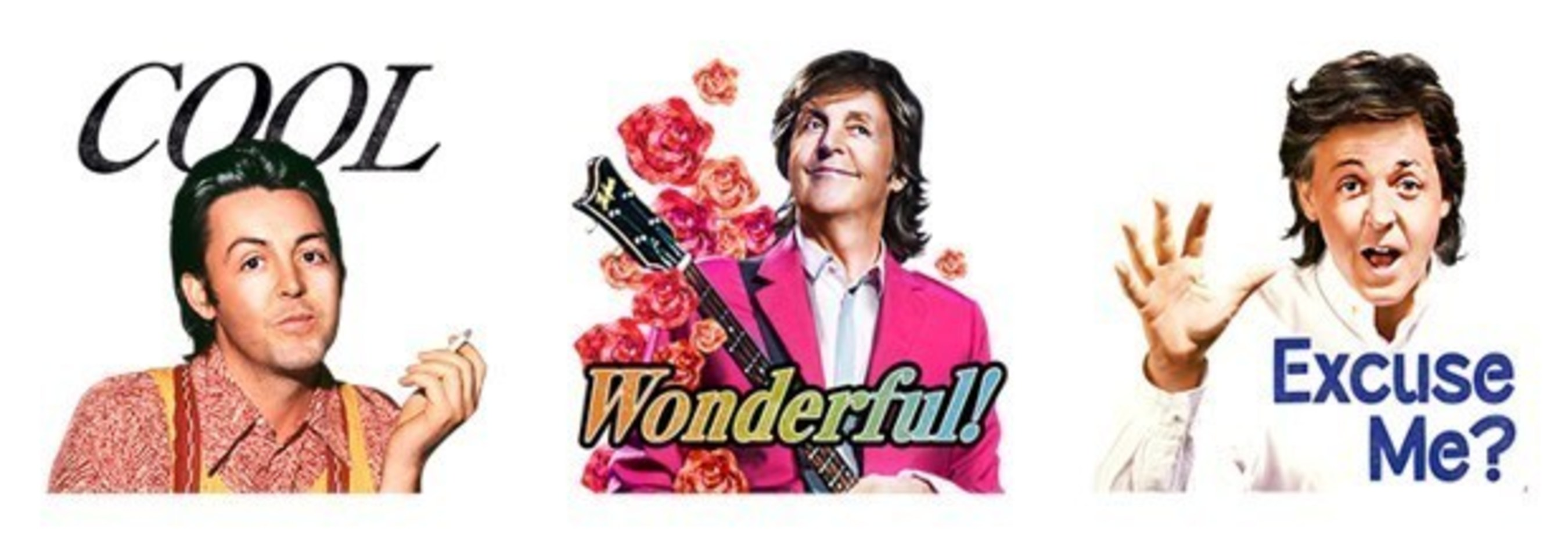 Paul McCartney Sound LINE Stickers