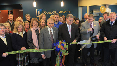The ribbon cutting ceremony at Bank of Lancaster's Patterson and Libbie branch.