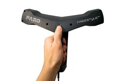 The new FARO Freestyle3D Handheld Laser Scanner is an easy, intuitive device for use in Architecture, Engineering and Construction (AEC), Law Enforcement, and other industries. (PRNewsFoto/FARO Technologies, Inc.)