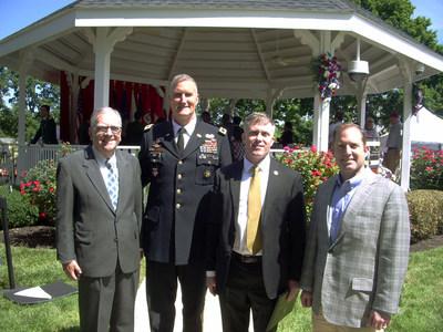 PenFed Board Member Jim Quinn, Commandant of the U.S. Army War College Maj. Gen. Bill Rapp, Board Member Philip Romanelli and President and CEO James Schenck.